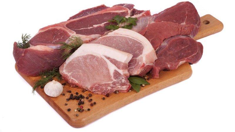 мясо - таблица содержания холестерина
