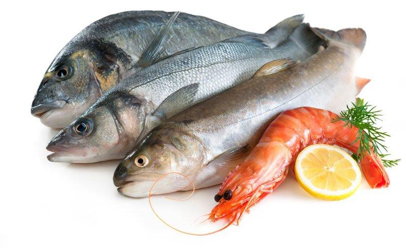 морепродукты - таблица содержания холестерина